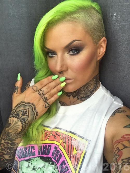 AimeeBlondie using -, Directions Fluorescent Glow, Pravana Neon Green, Pravana Neon Yellow - 7th July 2016 12:22 p.m.