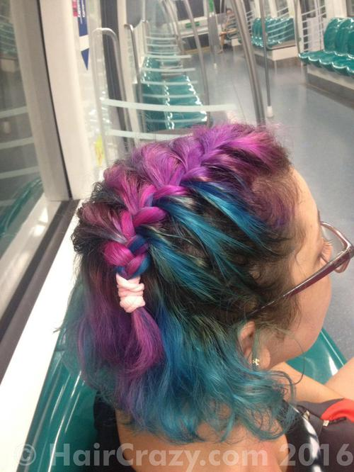 Mymoonus using Manic Panic Hot Hot Pink, Sky Blue (Ion Color Brilliance) - 17th August 2016 10:27 a.m.