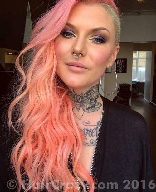 AimeeBlondie using Directions Apricot, Directions Carnation Pink, Directions Pastel Pink - 23rd September 2016 2:25 p.m.