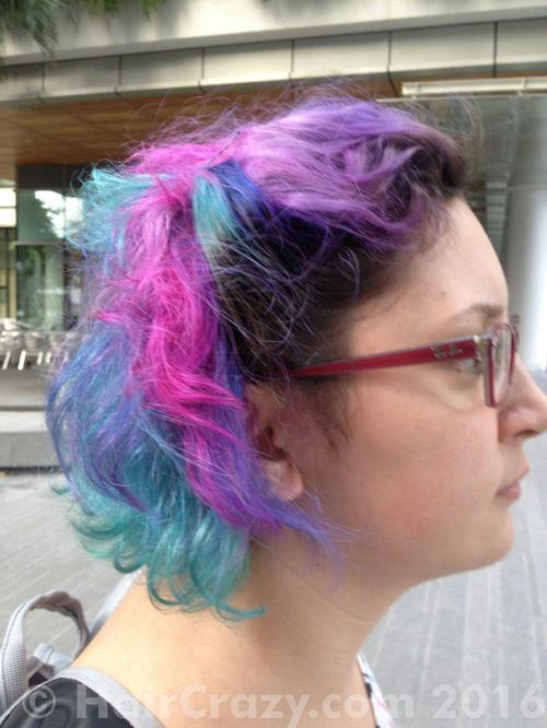 Mymoonus using Directions Turquoise, Directions Violet, Manic Panic Atomic Turquoise, Manic Panic Hot Hot Pink - 9th December 2016 3:30 a.m.