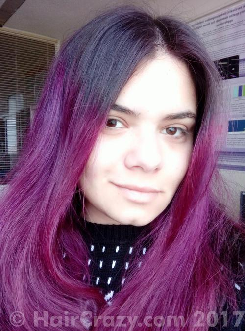 Zoe_nwobhm using Adore Purple Rage, Directions Alpine Green, Directions Mandarin, Directions Pillarbox Red, Directions Rose Red - 21st January 2017 8 p.m.