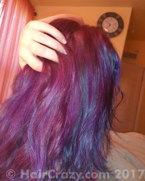 TheStitchCat using Color Intensity - Amethyst Purple, Manic Panic Ultra Violet, other (not listed), Sky Blue (Ion Color Brilliance) - 15th February 2017 5:37 a.m.