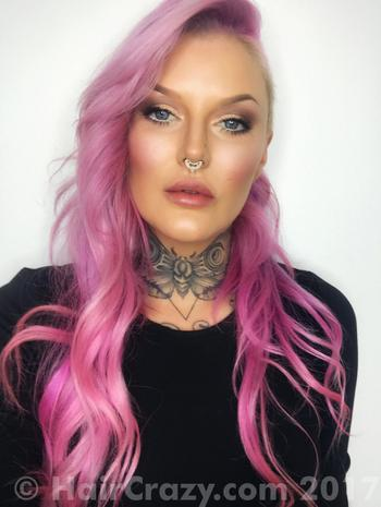 AimeeBlondie using Crazy Color Candy Floss, Crazy Color Pinkissimo - 18th July 2017 8:12 a.m.