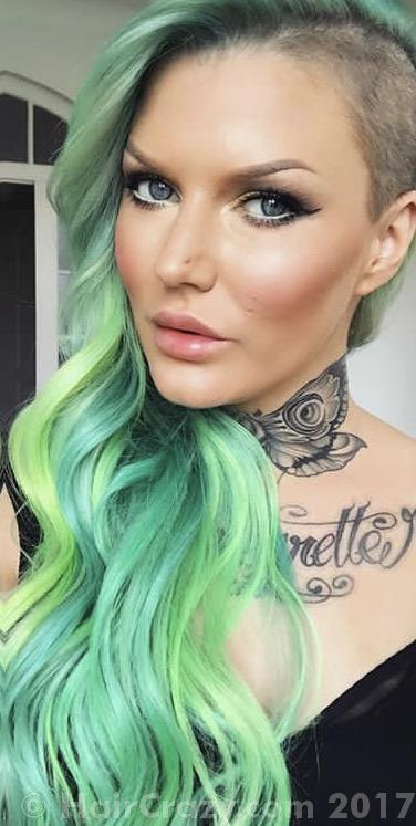 AimeeBlondie using Adore Electric Lime, Pravana Green, Pravana Neon Green, Pravana Neon Yellow - 18th June 2017 9:55 a.m.