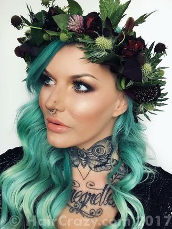 AimeeBlondie using Adore Electric Lime, Adore Sky Blue, Adore Sweet Mint, Manic Panic Atomic Turquoise - 25th June 2017 8 a.m.