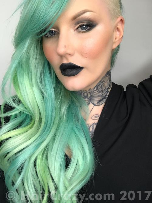 AimeeBlondie using Adore Electric Lime, Pravana Neon Green, Pravana Neon Yellow - 20th June 2017 8:06 a.m.