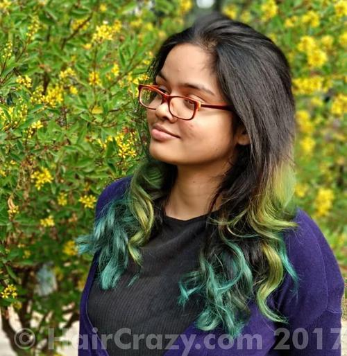 JayJ using Pravana Green, Pravana Locked-In Teal - 15th November 2017 12:21 p.m.