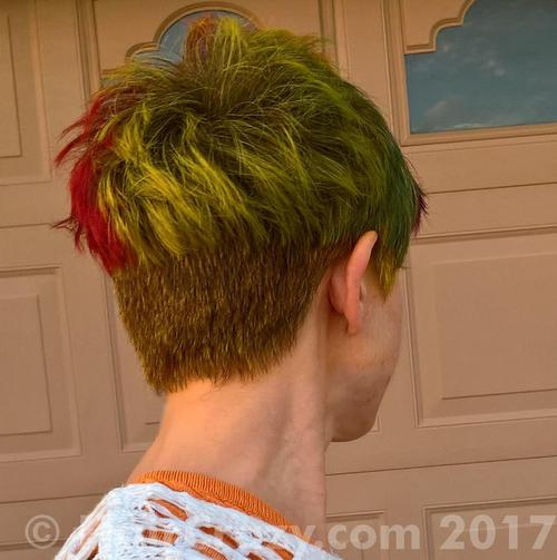 NLeigh using Adore French Cognac, Brite Yellow, Directions Alpine Green, Flame - 24th November 2017 5:03 p.m.