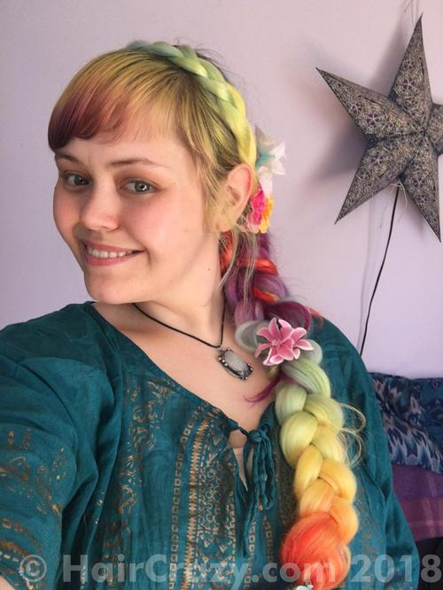 Aodhamair using Directions Bright Daffodil, Directions Cerise, Directions Turquoise, Manic Panic Ultra Violet - 19th April 2018 12:43 p.m.