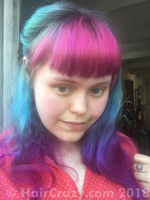 Aodhamair using Directions Atlantic Blue, Directions Cerise, Directions Turquoise, Manic Panic Ultra Violet, Special Effects Deep Purple - 6th May 2018 8:19 p.m.