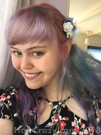 Aodhamair using Directions Carnation Pink, Manic Panic Ultra Violet, Special Effects Blue Velvet - 17th June 2018 1:58 p.m.