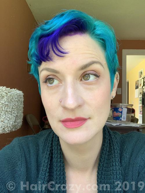 Dizzinea using Manic Panic Voodoo Blue - 26th April 2019 9:22 p.m.