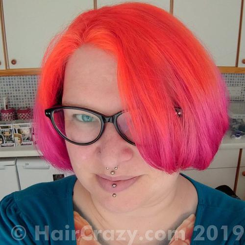 PixieKitten using Adore Fiesta Fuchsia, Special Effects Hi-Octane Orange - 23rd March 2019 midnight