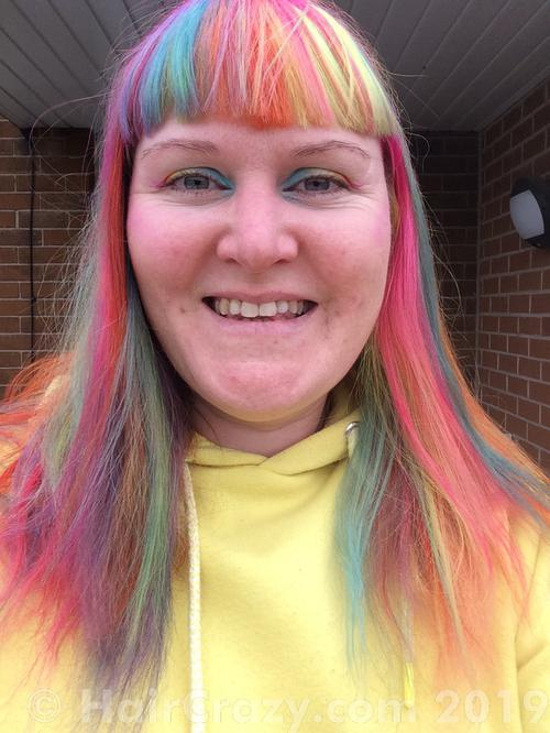 mor-forwyn_o_mochras using Adore Pink Blush, Manic Panic Atomic Turquoise, Manic Panic Electric Banana, Manic Panic Electric Lizard, Manic Panic Pillarbox Red, Special Effects Hot Lava, Special Effects Wild Flower - 28th July 2019 10:44 a.m.
