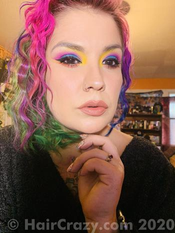 TamDroid using Flamingo Pink (Punky), Manic Panic Electric Lizard - 15th April 2020 7:24 a.m.