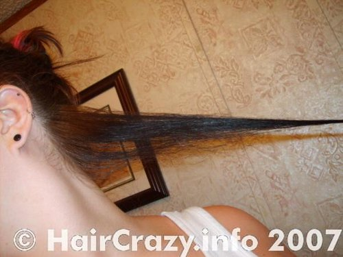 Make sure all the rest of hair is out of the way!