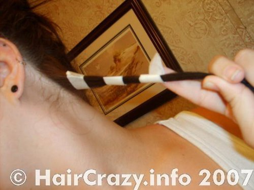 Apply tape to the hair that will remain dark