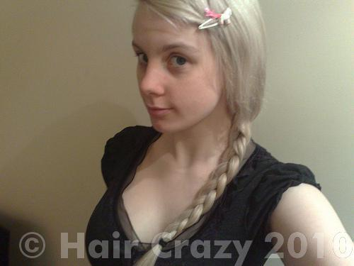 Me after dyeing my hair white/silver the first time :)