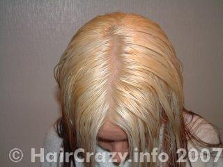 The roots are now blond after bleaching