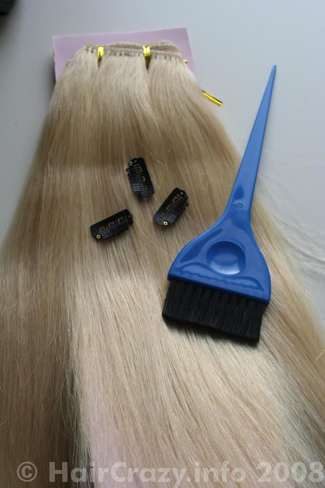 Make your own clip in extensions haircrazy human hair weft tint brush weft clips sewing materials pmusecretfo Images