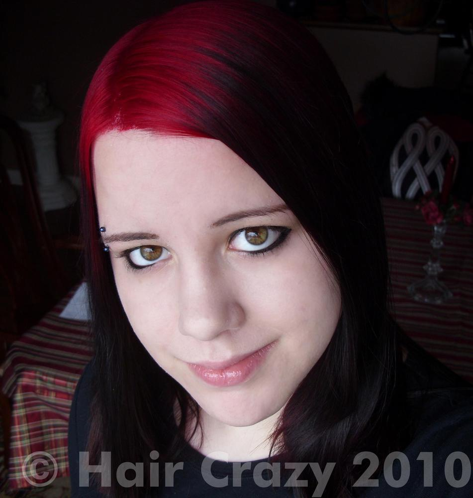Dyed roots with black tips