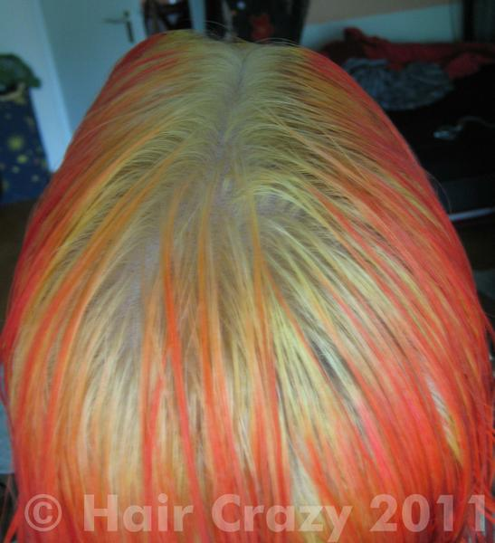 Hair after bleaching