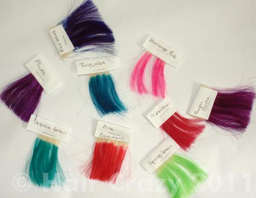 How to make your own hair dye swatch chart