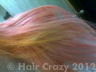 After bleaching, it wasn't light enough to apply the yellow.