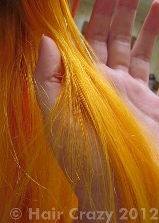 After the high-lift dye was used.
