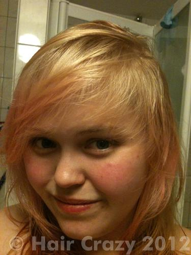 This was the colour my hair was before I started dyeing. Blonde with some faded/ bleach out pink