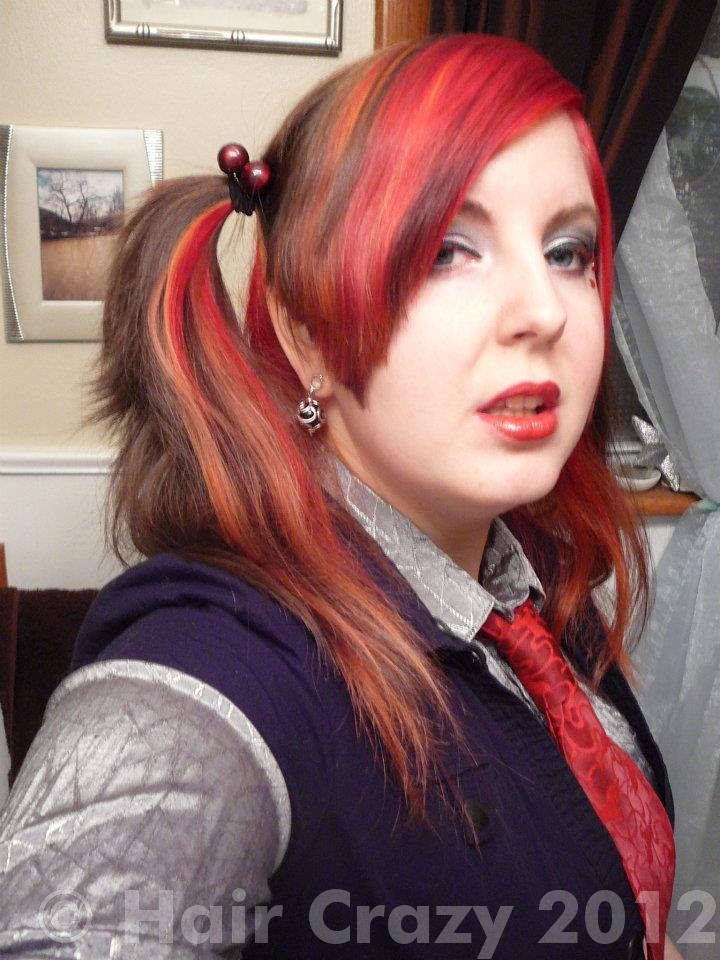 Red pigtails