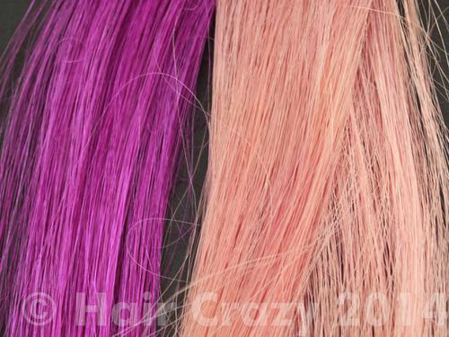 The effect of bleach powder and warm water mixture on Manic Panic Electric Amethyst