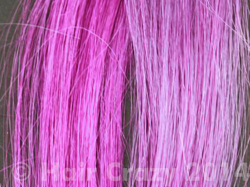 Effects of a high-lift blonde dye on purple hair