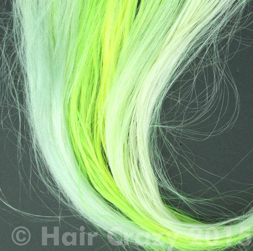The effects of ColourB4 Colour remover on Pravana Neon Blue, Neon Pink, Neon Orange, Neon Green and Neon Yellow.