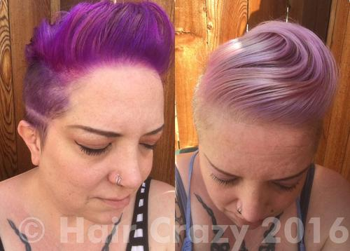 Using just fading soaks, much of the colour was removed over the course of a week