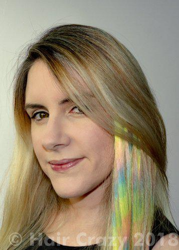 Easy rainbow hair tutorial with colours that glow under uv