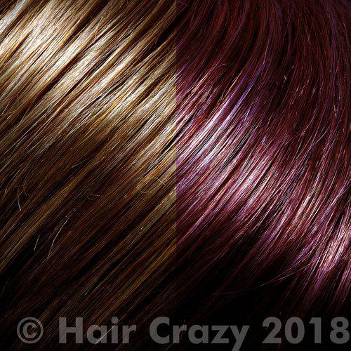 Darker hair doesn't go vibrant pink without bleaching.